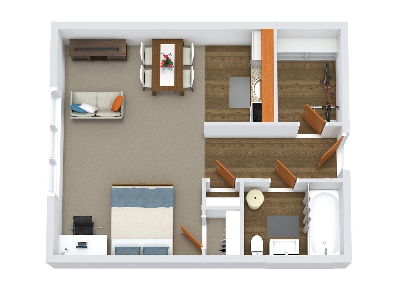 element apartments floor plan studio