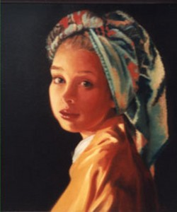 Girl Without an Earring - Oil by A. Scott