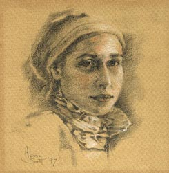 Alexandra - Pencil by A. Scott