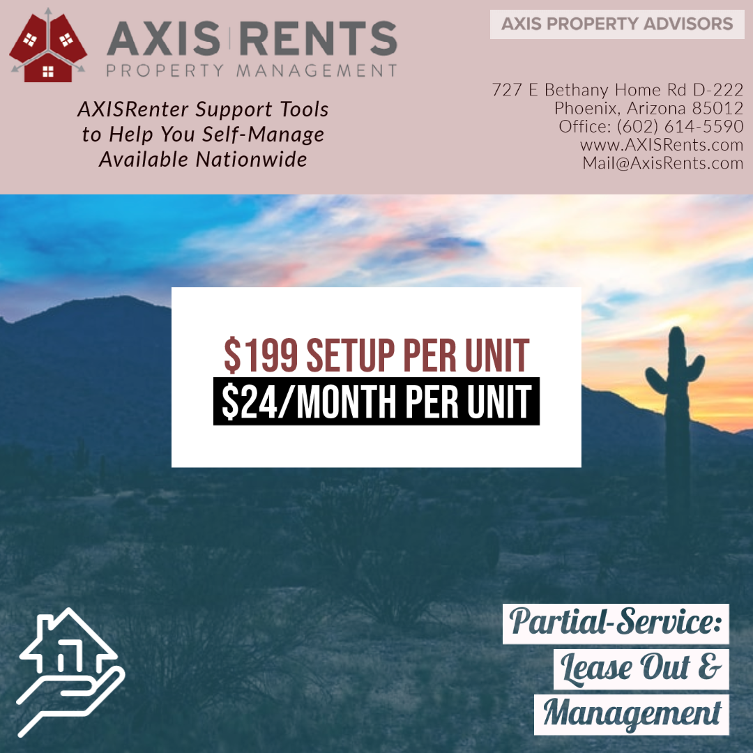 AXISRenter Support to Self-Manage