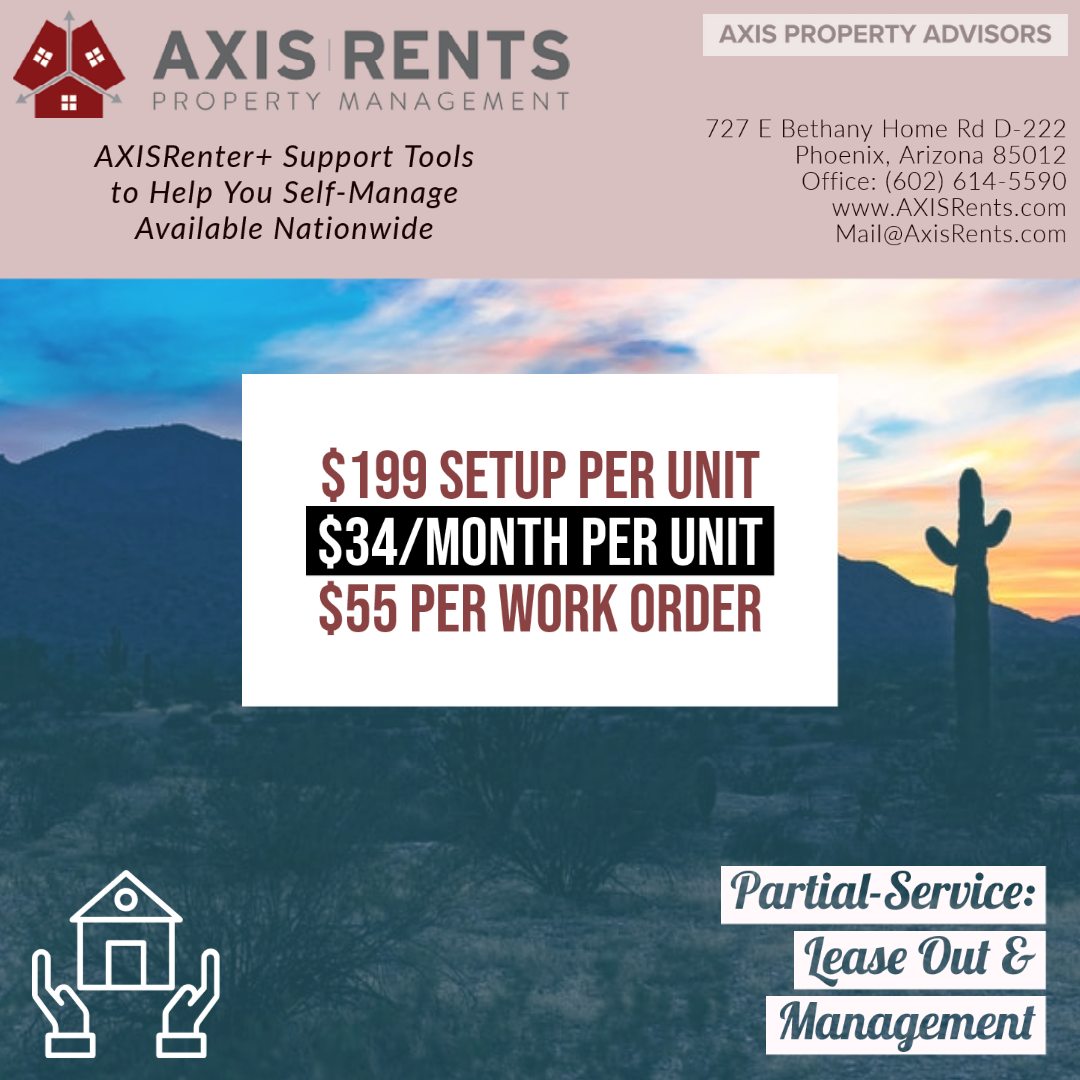 AXISRenter Plus Support to Self-Manage