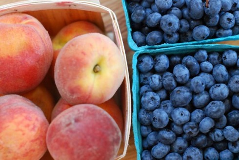 Blueberries & Peaches