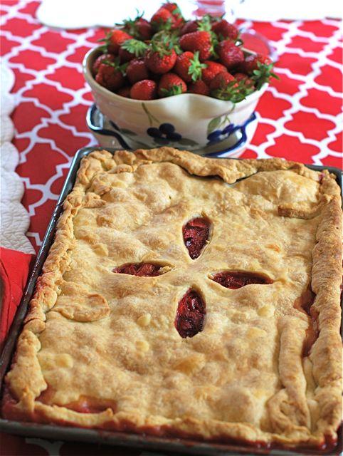 Strawberry Rhubarb Slab Pie | The Naptime Chef