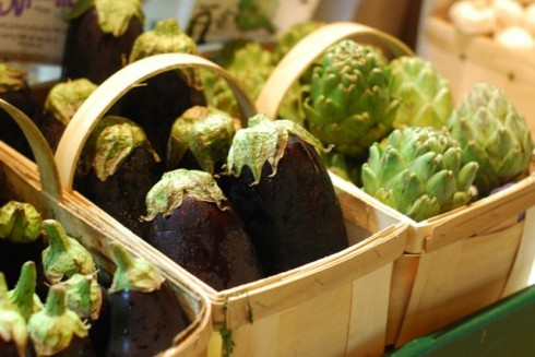 Artichokes & eggplant