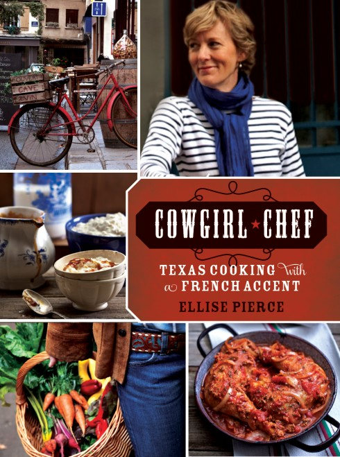 The cover of Cowgirl Chef by Ellise Pierce and an interview with her