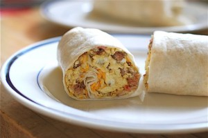 Uncle Will's Rockin' Spicy Chorizo Breakfast Wrap via The Naptime Chef