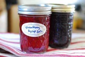 Strawberry Syrup via The Naptime Chef
