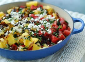 Watermelon Goat Cheese Salad via The Naptime Chef