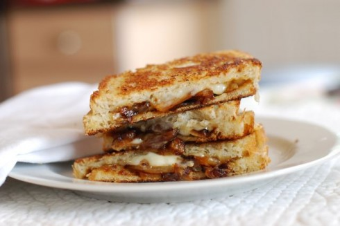 Caramelized Onion Grilled Cheese via The Naptime Chef
