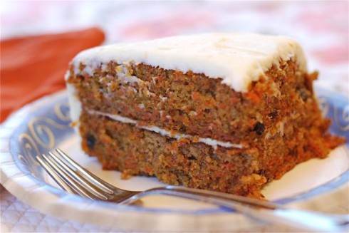Moist Carrot Cake via The Naptime Chef