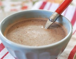 Peppermint Hot Chocolate via The Naptime Chef