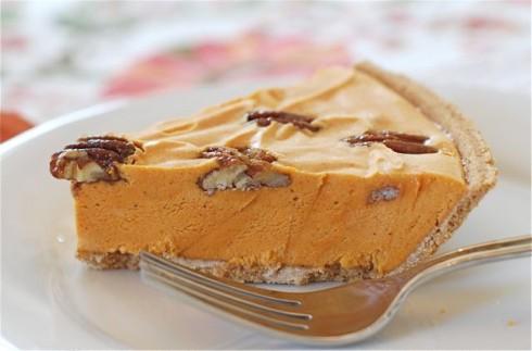 Pumpkin Ice Cream Pie with Maple Glazed Pecans via The Naptime Chef