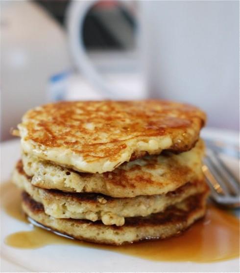 Oatmeal Almond Pancakes