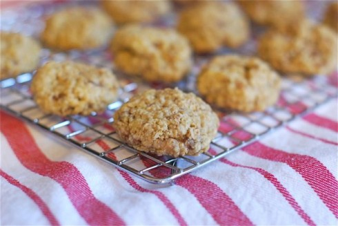 Simple Oatmeal Heath Bar Cookies via The Naptime Chef