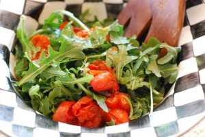 Arugula Salad with Roasted Tomatoes