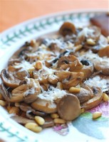 Mushrooms with Pine Nuts and Parmesan