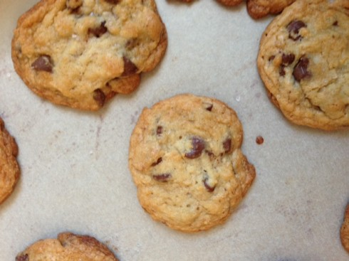 Bourbon and Sea Salt Chocolate Chip Cookies