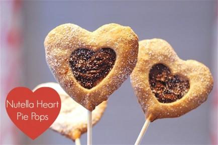 Nutella Heart Pie Pops