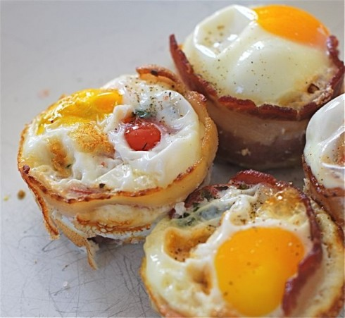 herbed Tomato Bacon and Egg Cups