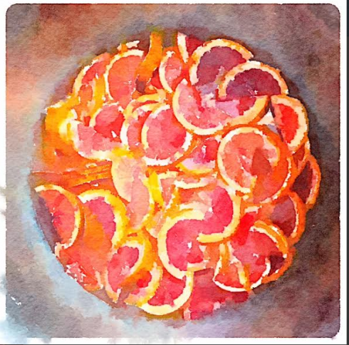 Marmalade Painted in Waterlogue