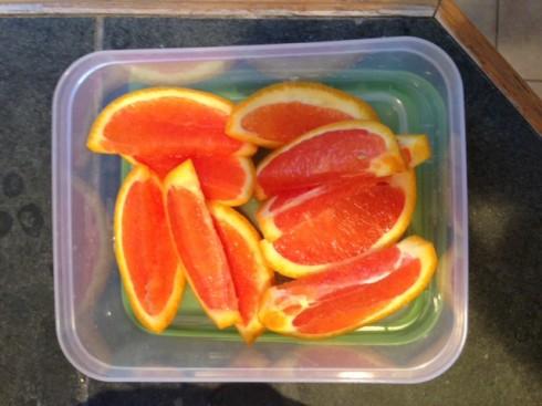 Cara Cara orange slices