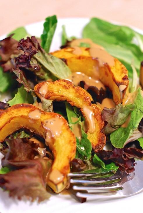 Roated Delicata Squash Salad