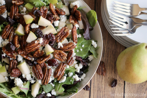 Salad with Maple-Balsamic Dressing