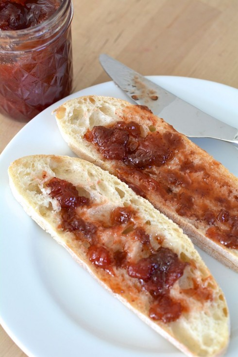 Mrs. Wheelbarrow's Strawberry Rhubarb Sauce | The Naptime Chef