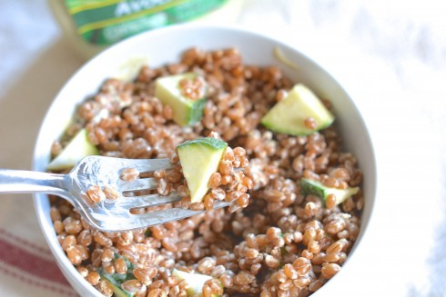 Zucchini Wheatberry Salad | The Naptime Chef