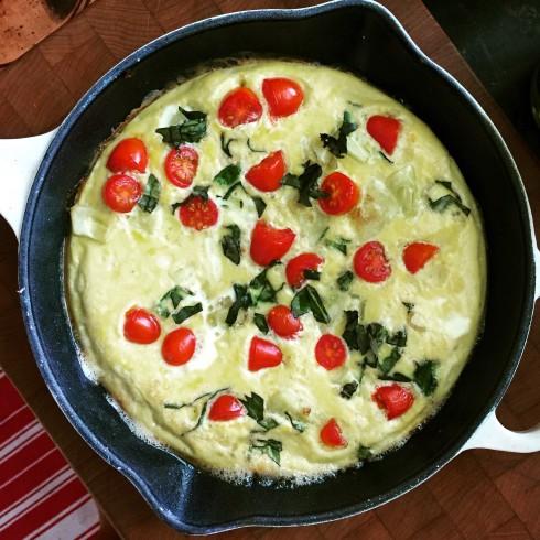 Squash Basil & Tomato Frittata
