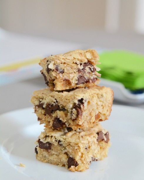 Chocolate Chip Coconut Oatmeal Bars | The Naptime Chef