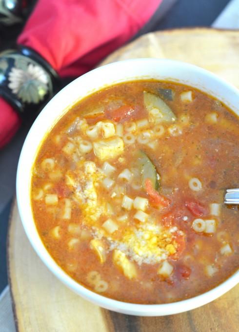 Garden Vegetable Pesto Chicken Soup | The Naptime Chef