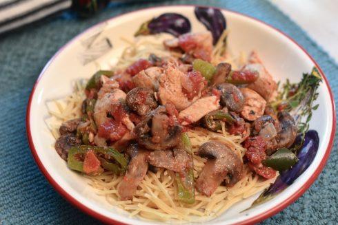 Skillet Chicken Cacciatore | The Naptime Chef