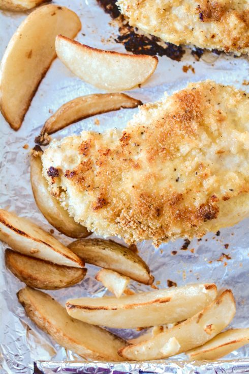 Crispy Chicken & Oven Fries Sheet Pan Dinner | The Naptime Chef