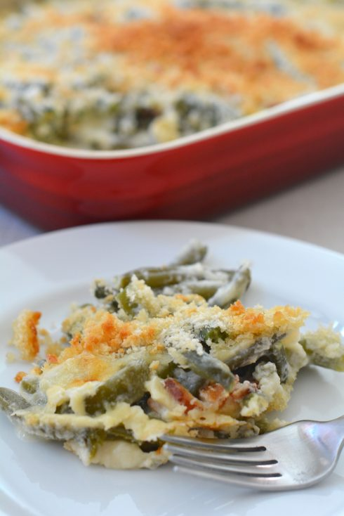 Green Beans & Bacon Casserole   The Naptime Chef