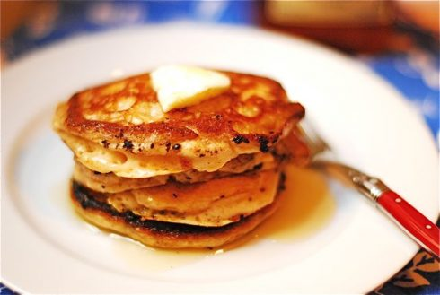 Freeze pancakes and reheat later!