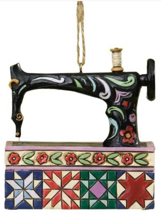 Jim Shore Sewing Machine Ornament