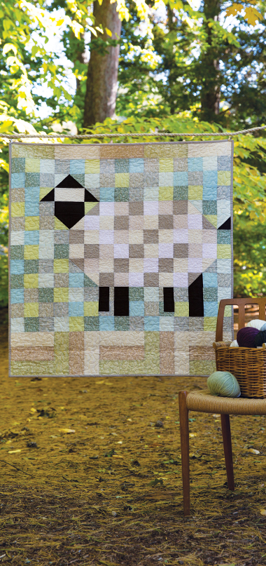 sheep baby quilt