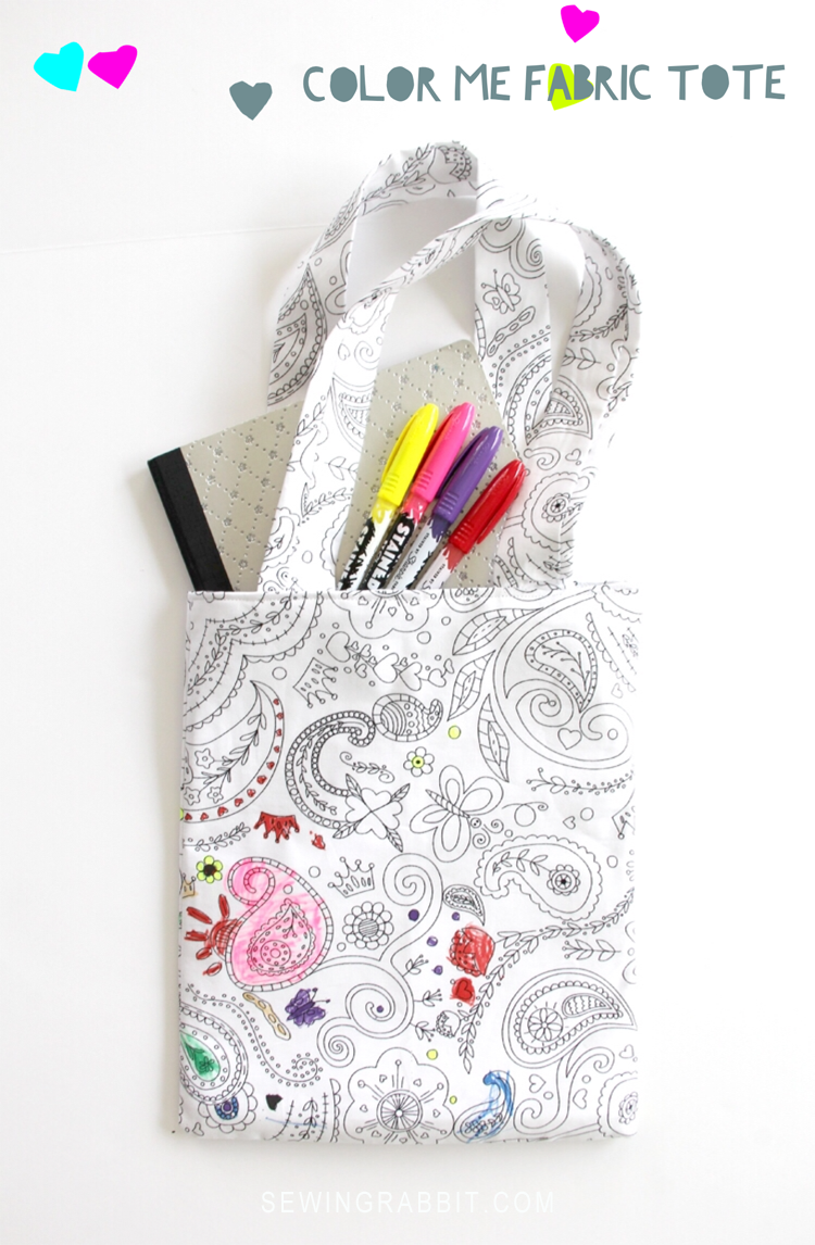 color me tote sewing tutorial