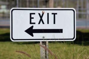 Social media exit sign