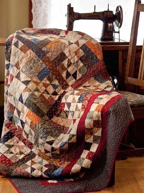 Quilt Display at Arcanum Library