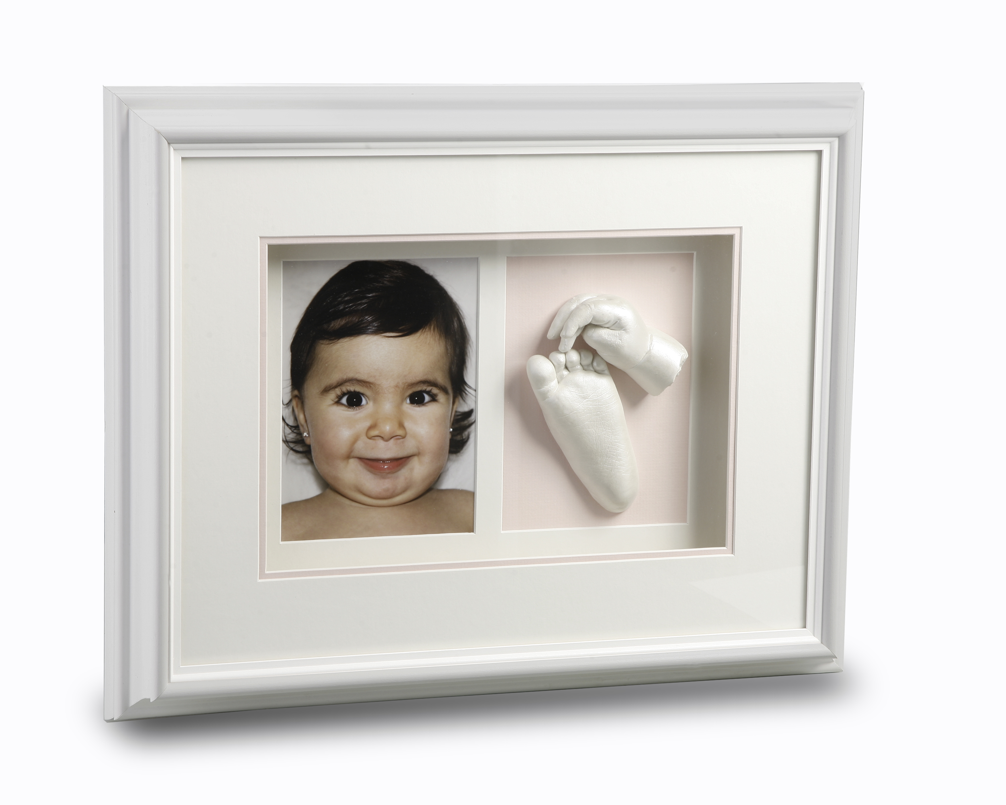 Double Window White Frame