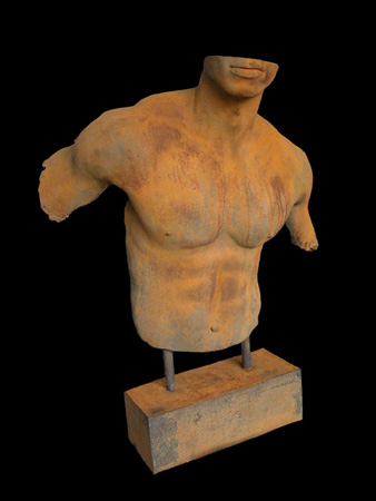 Male bust on stand Casting