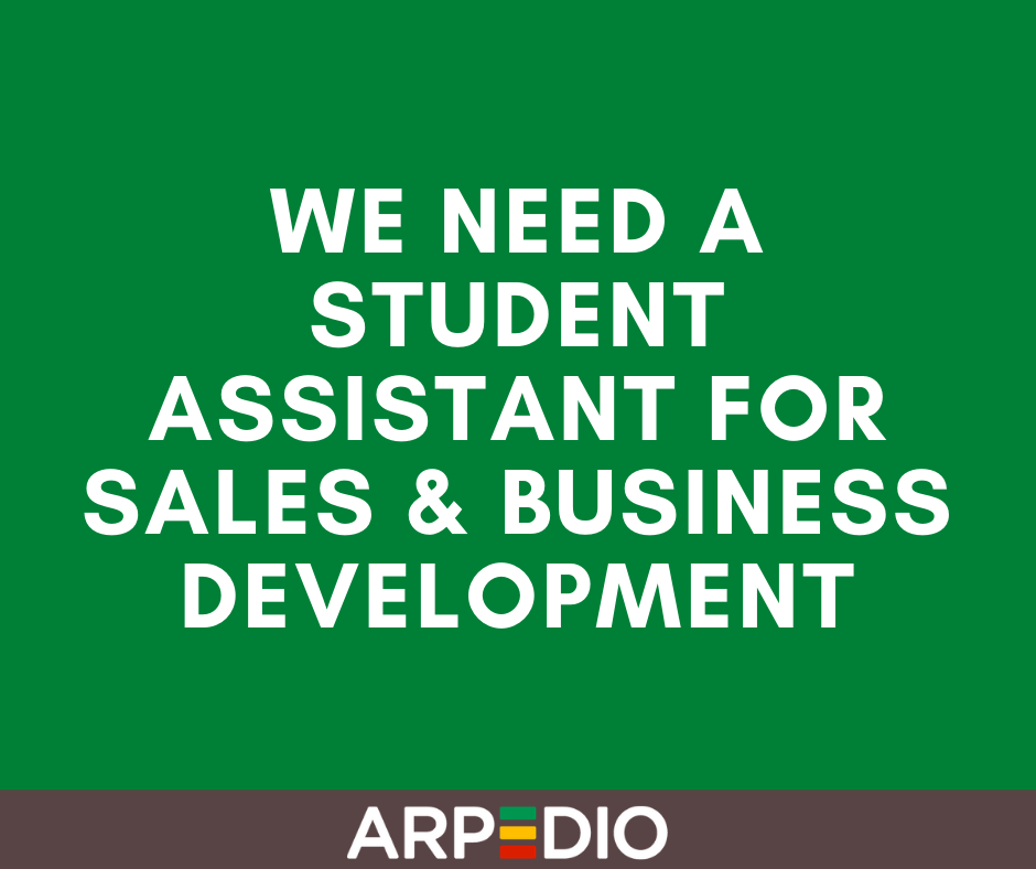 We need a Student Assistant for Sales & Business Development
