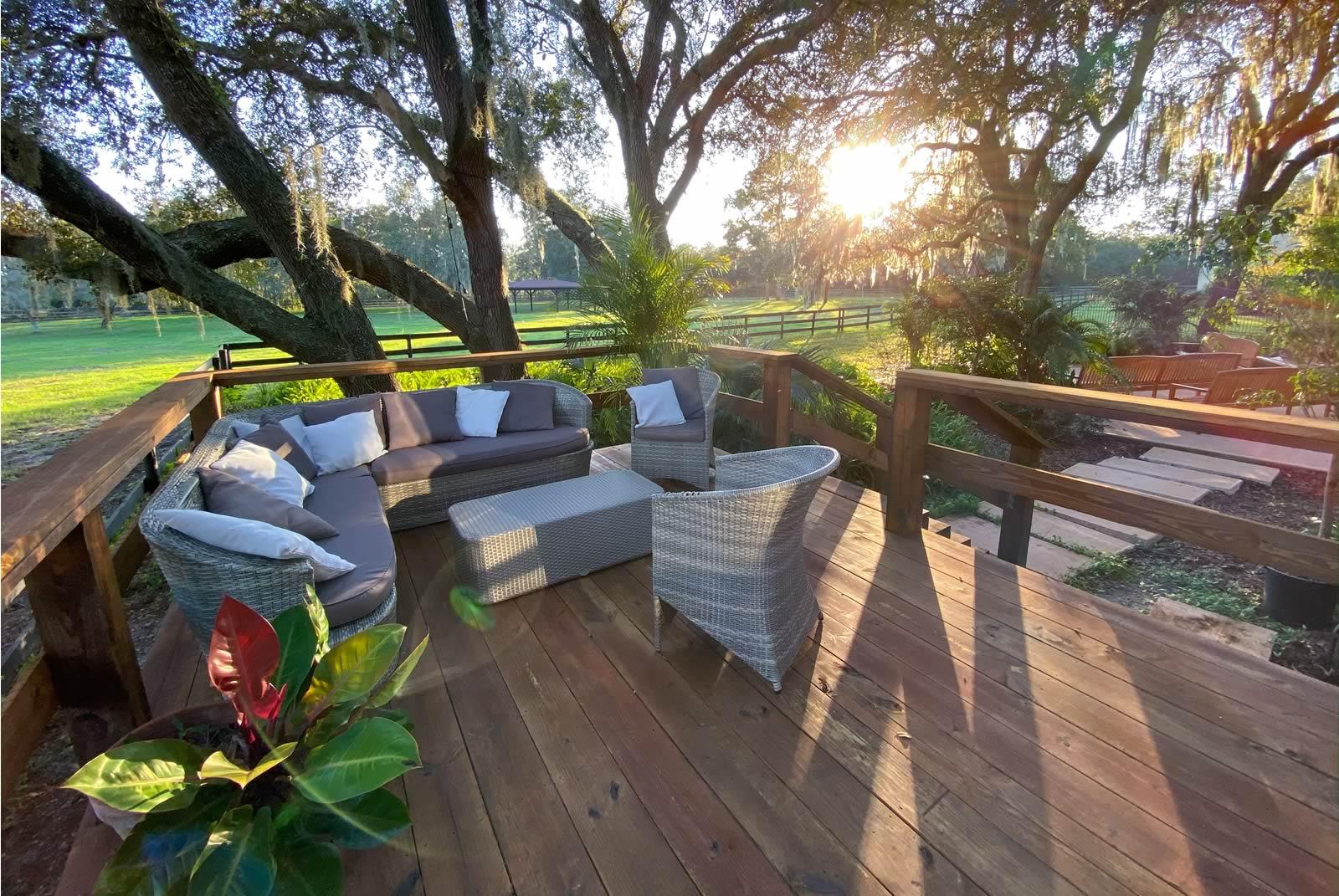 Groom ready suite BLB Hacienda Outdoor patio
