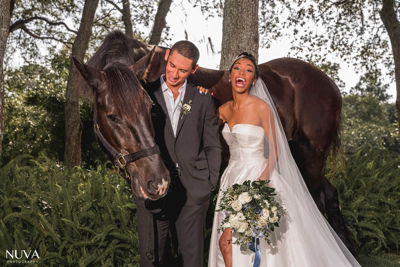 Weddings and Events BLB Hacienda - Bride and Groom horse barn