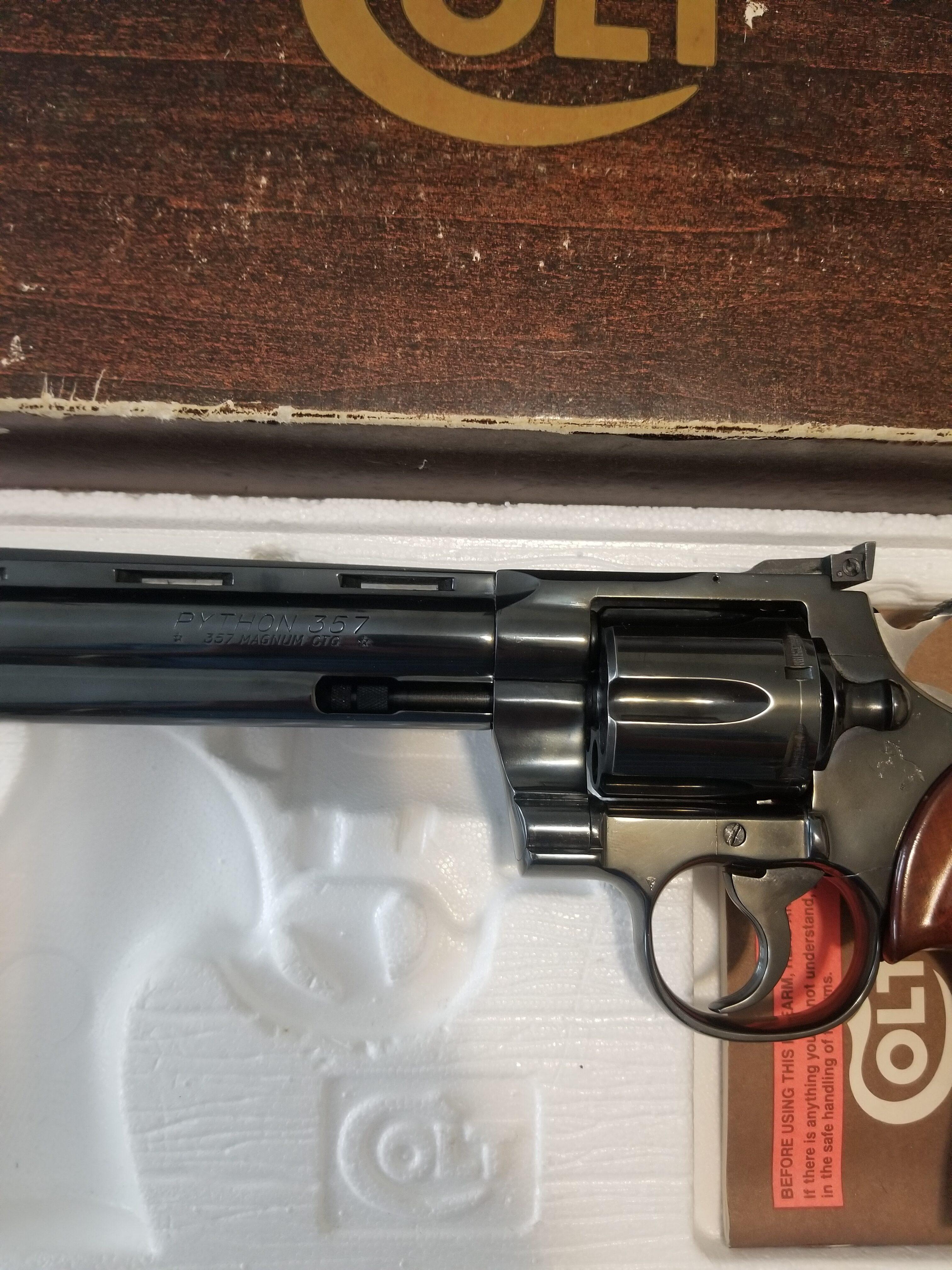 Colt Python .357 Magnum Blued 6in Barrel
