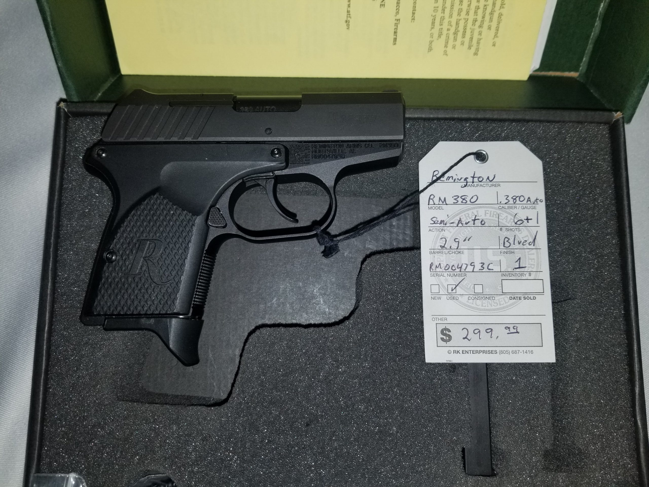Remington RM380 Semi-Auto in .380 Auto