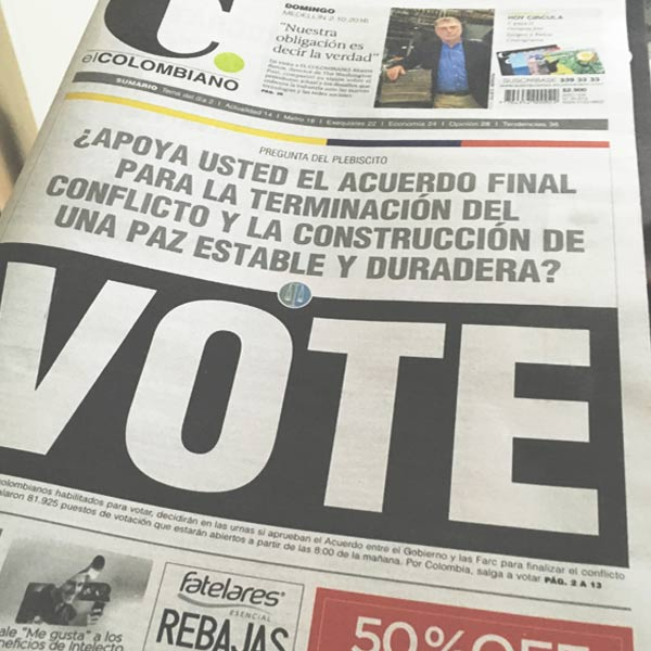 Colombia y el plebiscito por la paz