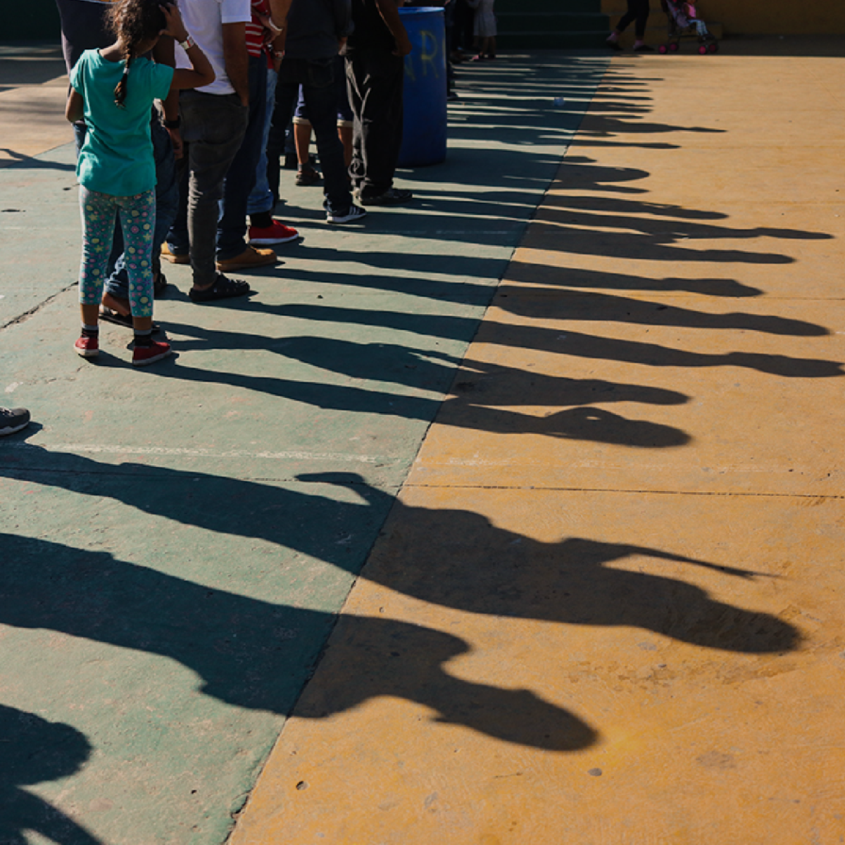 La caravana migrante en Honduras